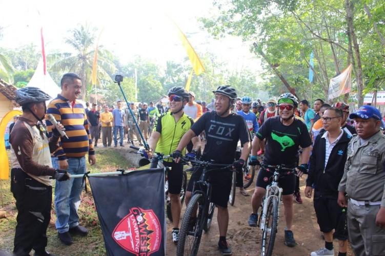 Pemerintah daerah kabupaten Tubaba launching Nenemo Bike Park Jalur Sepeda Zero Karbon