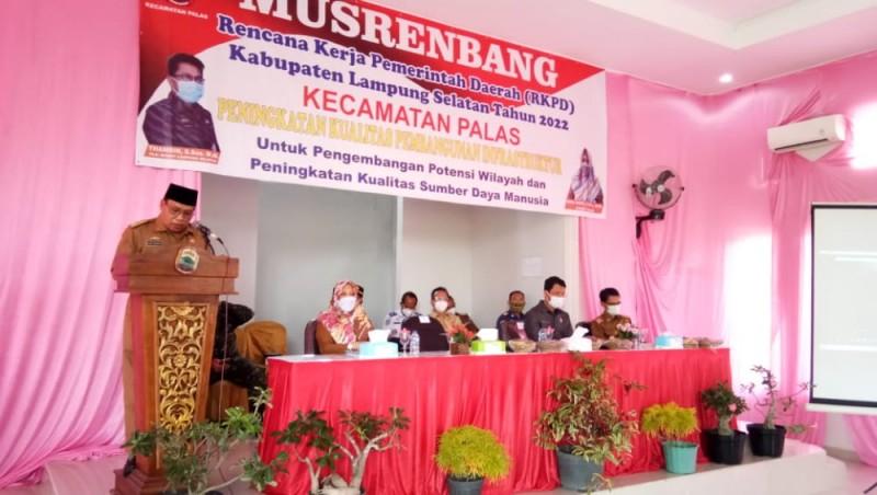 Pemkab Lampung Selatan Gelontorkan Rp34 Miliar ke Kecamatan Palas