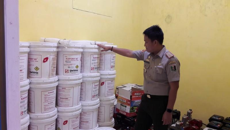 Pemkab Lamtim Bagikan Bahan Disinfektan ke Seluruh Kecamatan
