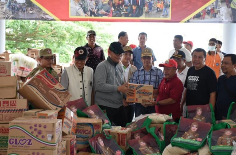 Pemkab Lamtim Kirim Tim Relawan dan Bantuan Logistik untuk Korban Tsunami Lamsel