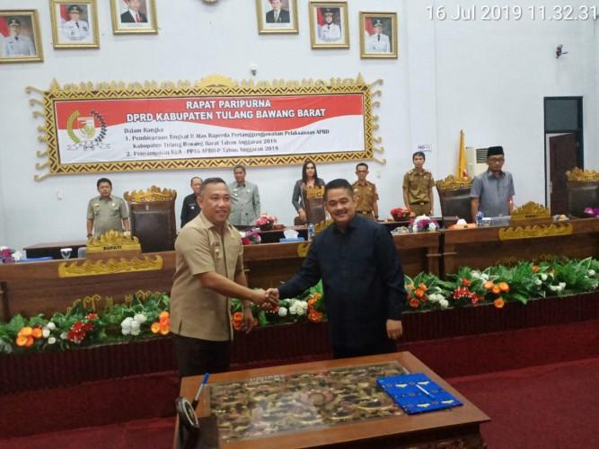 Pemkab Tubaba Sampaikan LKPJ APBD tahun 2018 kepada DPRD