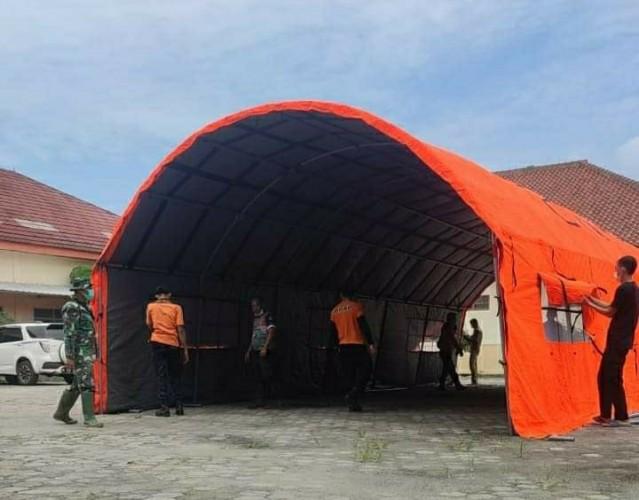 Pemkab Tulangbawang Dirikan Tenda Darurat untuk Tampung Pasien Covid-19