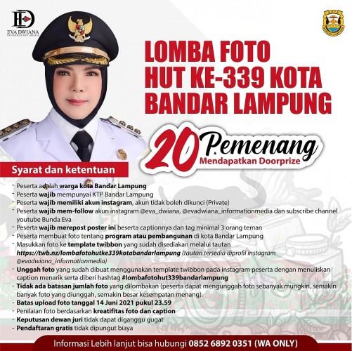 Pemkot Bandar Lampung Gelar Lomba Foto untuk Peringati HUT Kota