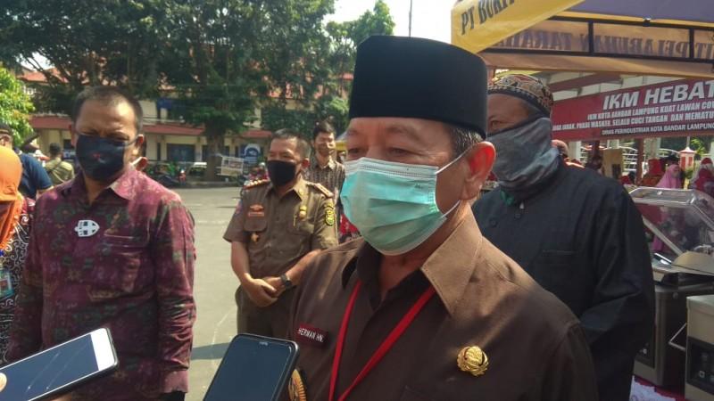 Pemkot Bandar Lampung Imbau Warga Mengganti Masker Skuba
