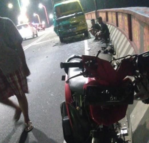 Pemotor Tewas Usai Seruduk Mobil di Jalan Sultan Agung Bandar Lampung