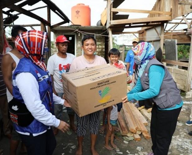 Pemprov <i>Back-Up</i> Pemkab Tuba Tangani Korban Bencana Puting Beliung