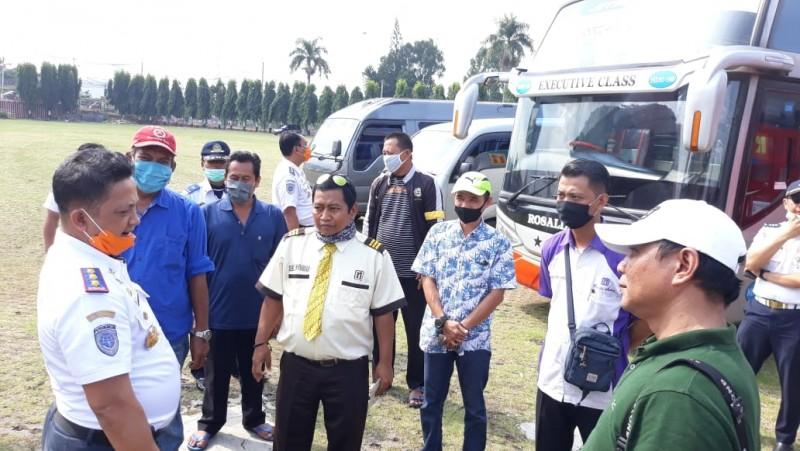 18 Kendaraan dari Luar Lampung Dihukum