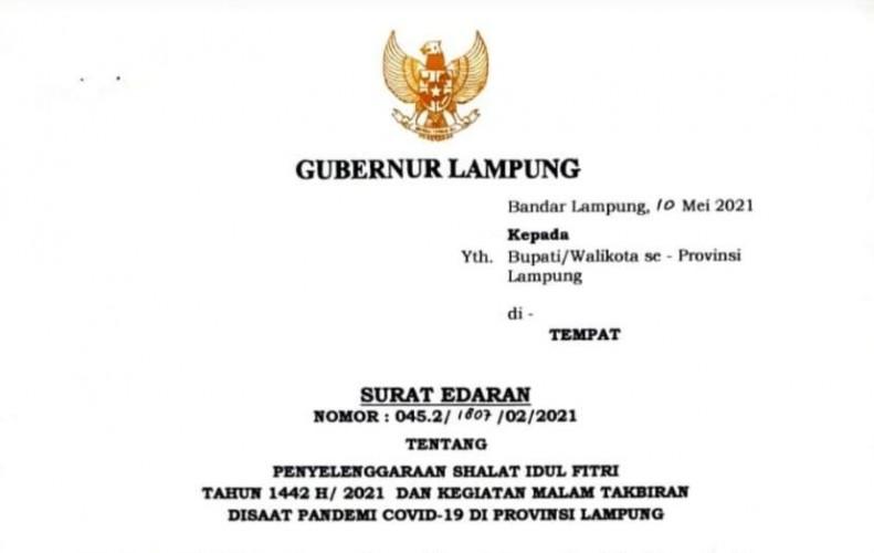 Pemprov Lampung Perbolehkan Tiga Kabupaten Salat Idulfitri di Lapangan