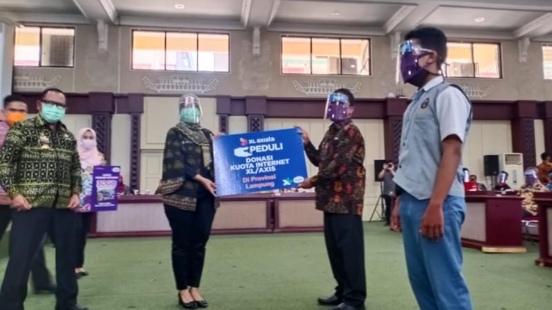 Pemprov Lampung-PT Axiata Kerja Sama Beri Bantuan Kuota Internet