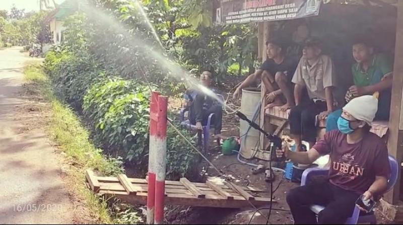 Pemuda di Sungailangka Dirikan Posko Pecegahan Covid-19 Secara Sukarela