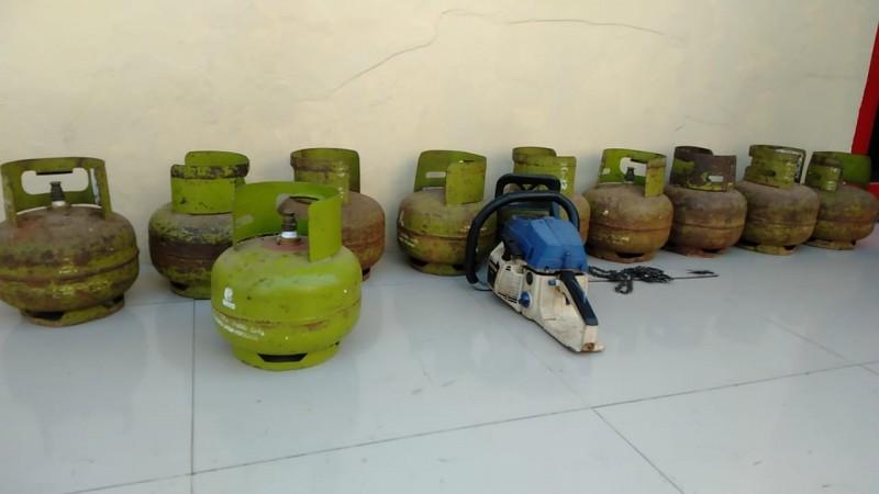 Pemuda Pengangguran Curi 10 Tabung Gas Elpiji di Warung Tetangga