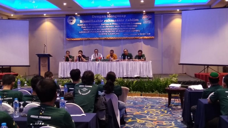 Penangkar Burung Se-Lampung Deklarasi Terbentuknya APBN
