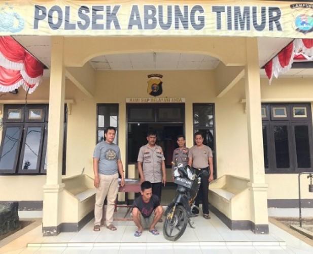 Pencuri Motor Diserahkan Keluarga ke Polisi