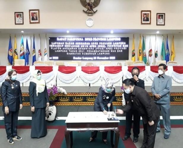 Pendapatan Daerah 2021 Lampung Disepakati Rp7,59 Triliun