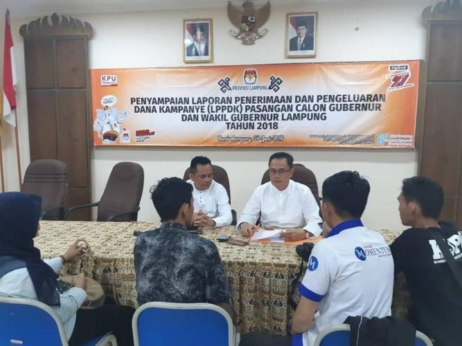 Pengeluaran Dana Kampanye Paslon Cagub Lampung Capai Rp26 M