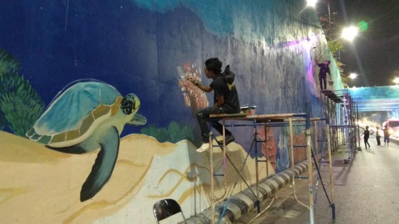 Mural Underpass Unila Hampir 100 Persen