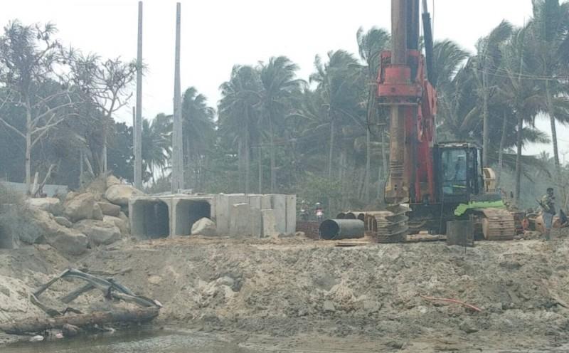 Pengerjaan Pembangunan Jembatan Pekon Mandirisejati Capai 30%