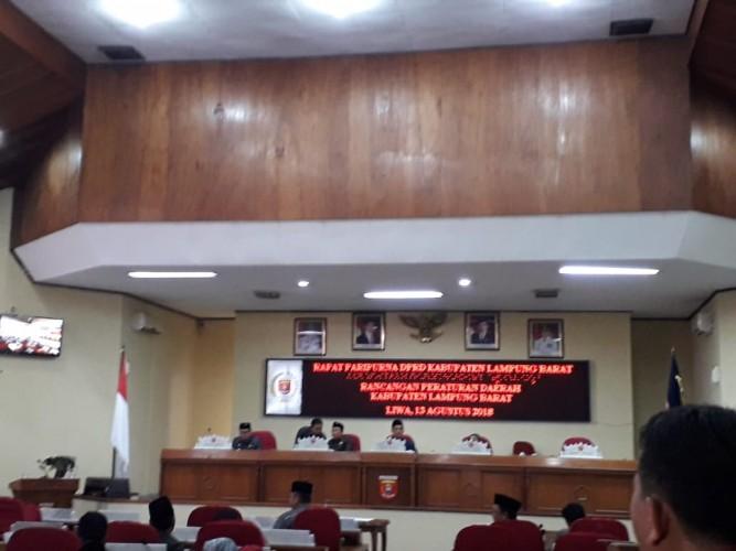 Pengesahan 4 Raperda di DPRD Lambar ditunda