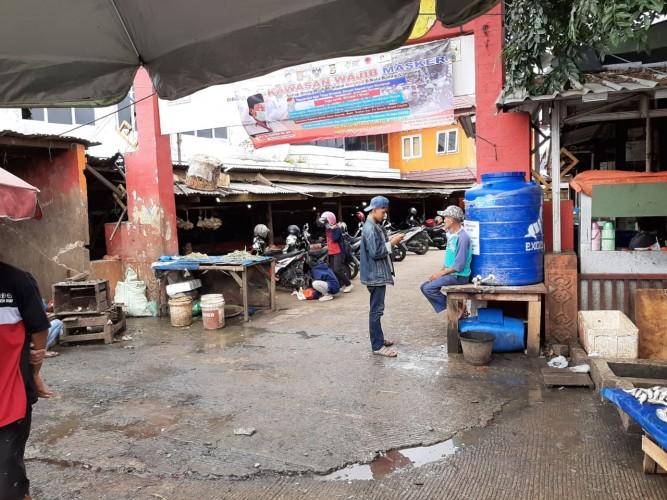 Pengunjung Pasar Gintung Minta Cuci Tangan Portable Ditambah