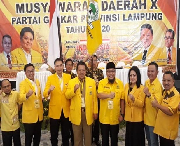 Pengurus DPD Partai Golkar Lampung 2020-2025 Terbentuk