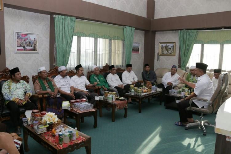 Pengurus PCNU Pringsewu Silaturahmi ke Wakil Bupati