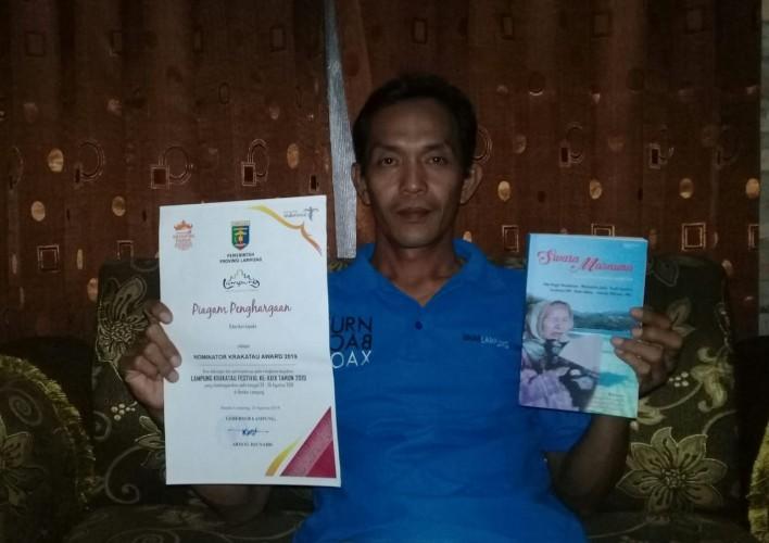 Pengurus SMSI Lampura Nominator Lomba Cipta Puisi Nasional 2019
