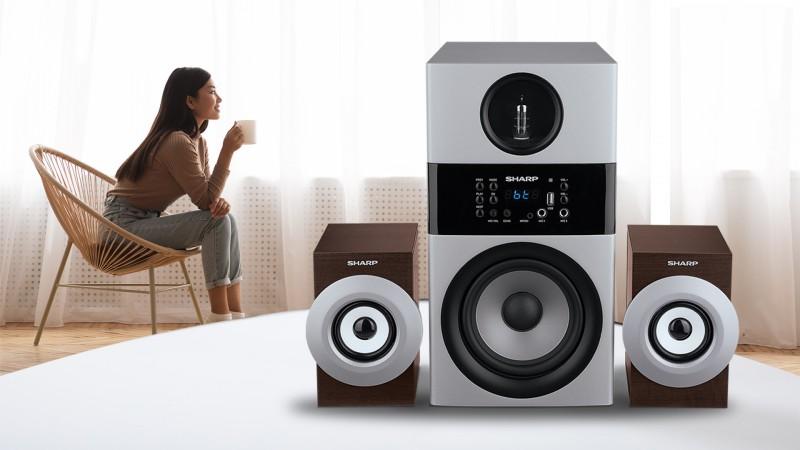 Penikmat Musik Premium Sharp Luncurkan Active Speaker Kualitas Suara High Definition