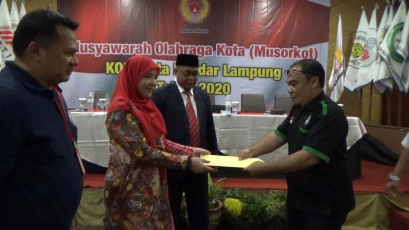 Peningkatan Pembinaan jadi Tantangan Pengurus Baru KONI Bandar Lampung