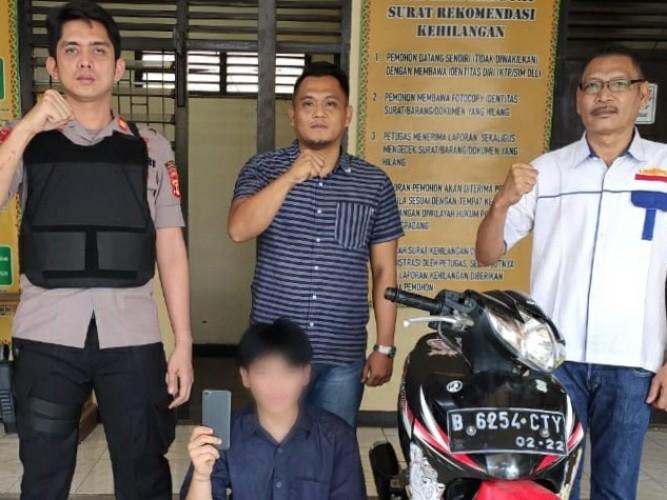 Penjambret Handphone Bocah di Bekuk Polsek Talang Padang