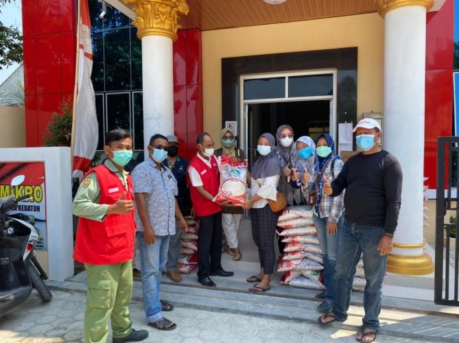 Penyaluran Bantuan Beras PPKM di Bandar Lampung Rampung