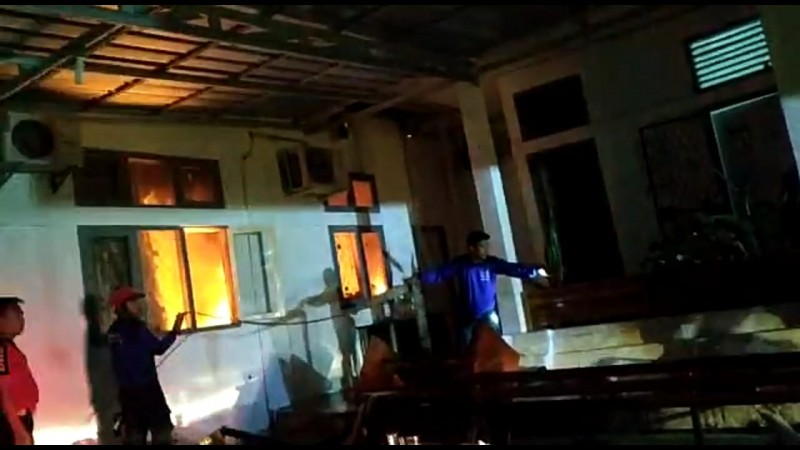 Penyebab Aula Inspektorat Way Kanan Terbakar Terungkap