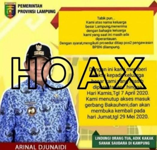 Penyebar Hoaks Imbauan Gubernur Dilaporkan ke Polda