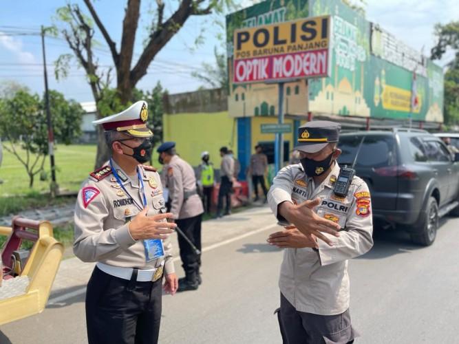 Penyekatan di Exit Tol Lampung Dibuka