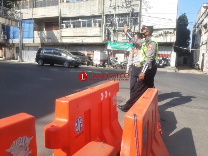 Penyekatan Jalan Utama Bandar Lampung Kembali Dibuka