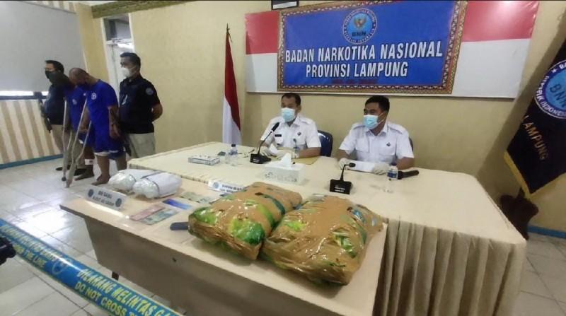 BNN Lampung Tembak Dua Penyelundup 4 Kg Sabu-sabu Jaringan Aceh-Bandung