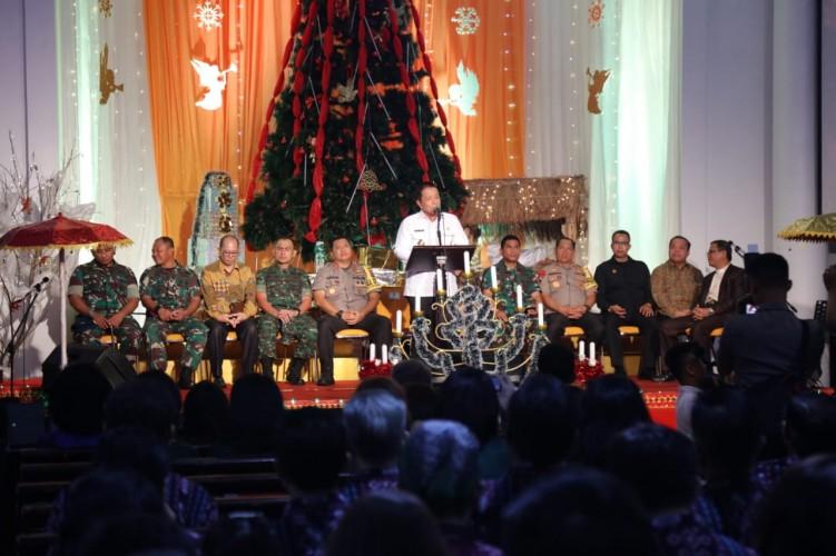 Perayaan Natal di Lampung Aman dan Damai