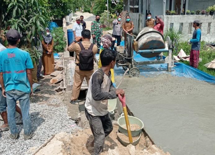 Perbaikan Jalan di Tanjungsari Natar Telan Rp137 Juta dari Dana Desa
