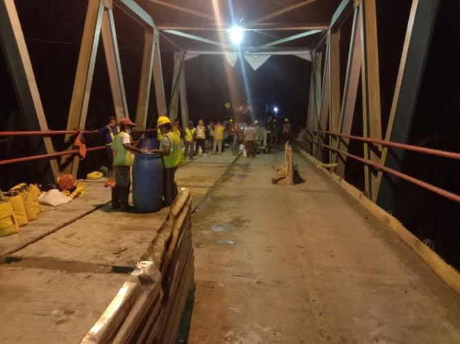Perbaikan Jembatan Way Rarem Lampung Utara Rampung
