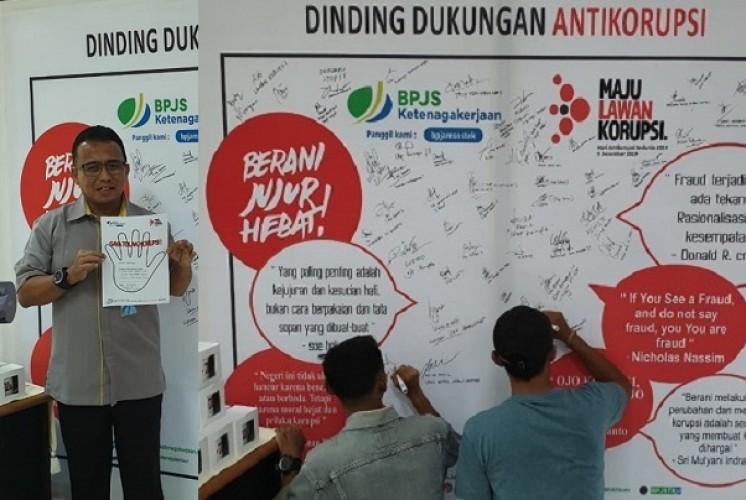 Peringati Hari Antikorupsi, BPJamsostek Bandar Lampung Ajak Peserta Perangi Korupsi