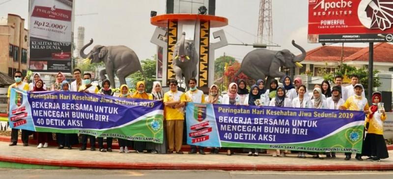 Peringati Hari Kesehatan Jiwa, RSJD Lampung Adakan Aksi 40 Detik