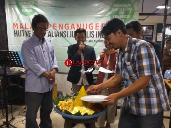 Peringati HUT Ke-24 AJI Bandar Lampung Galang Dana Untuk Korban Gempa Lombok