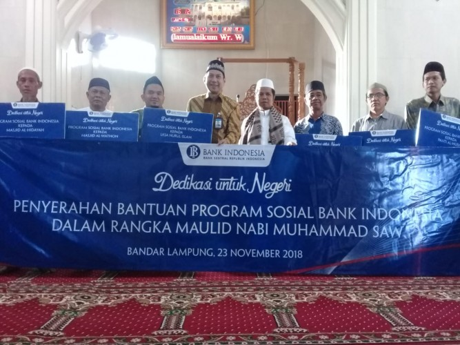 Peringati Maulid Nabi, Bank Indonesia Berikan Bantuan Sosial