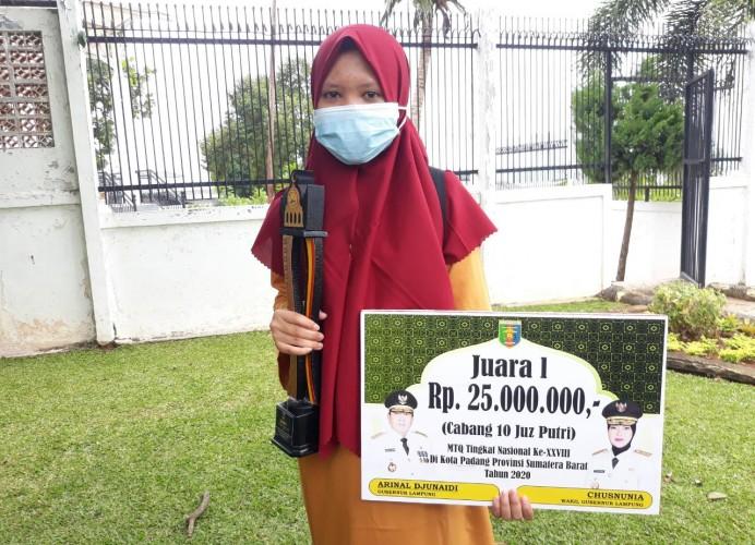 Perjuangan Nur Fitriani Meraih Juara I Hafidz MTQ Nasional 2020