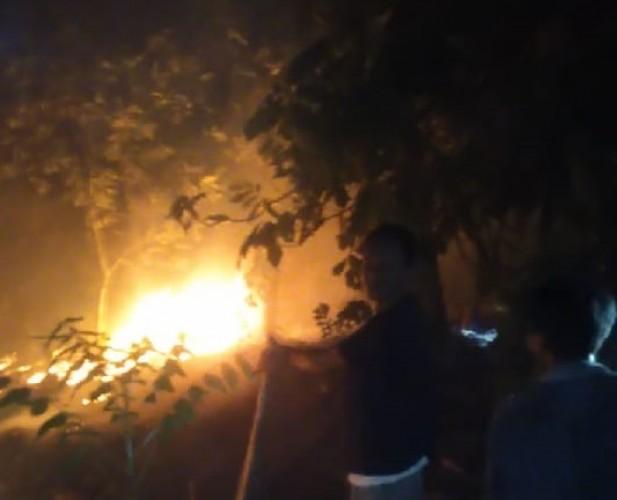 Perkebunan Warga di Lereng Gunung Rajabasa Terbakar