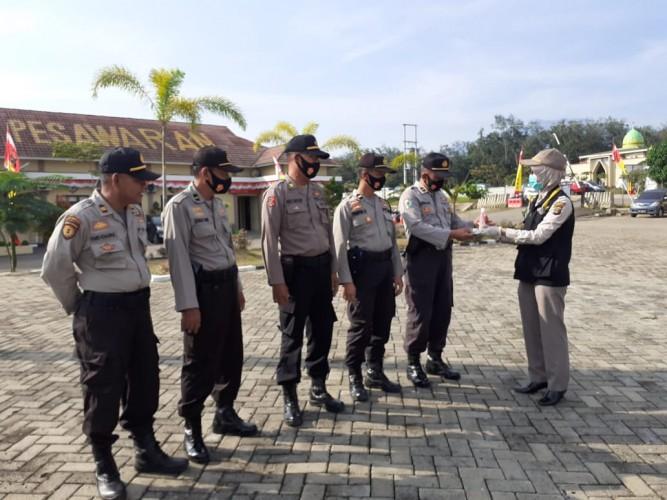 Personel Operasi Patuh Pesawaran Dicek Kesehatan Antisipasi Penularan Covid-19