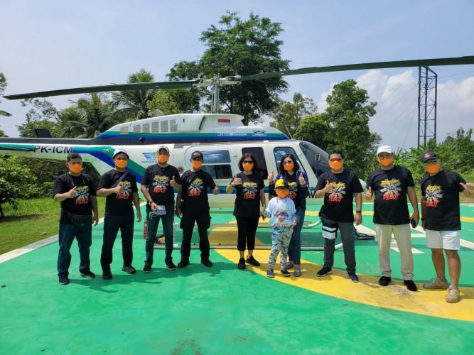 Pertama di Bandar Lampung, Menikmati Pemandangan dengan Helikopter di Puncak Mas