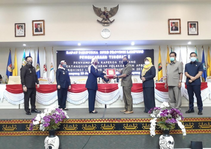 Pertanggungjawaban APBD Lampung 2019 Diparipurnakan