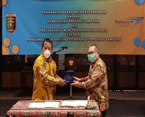 Perum Perindo Teken MoU Pengembangan Perikanan di Lampung