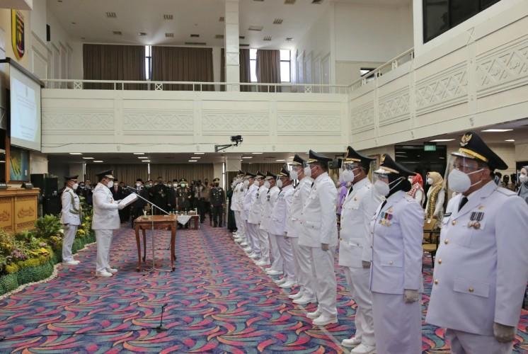 Pesan Gubernur Arinal kepada 7 Kepala Daerah Baru