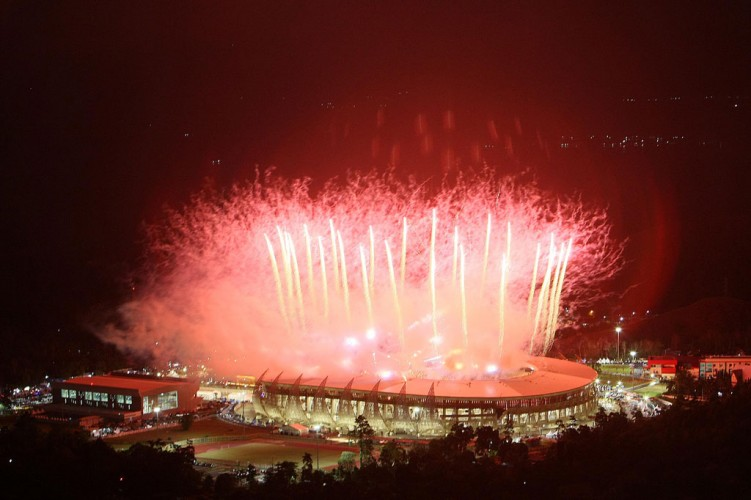 Pesta Kembang Api Akhiri Upacara Pembukaan PON XX Papua